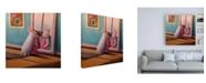 "Trademark Global Lucia Hefferna Date Night Rabbit Canvas Art - 36.5"" x 48"""