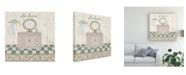 "Trademark Global Sue Ditzian Bain Bleu II Canvas Art - 27"" x 33"""