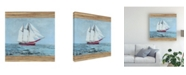 "Trademark Global Naomi Mccavitt Seagrass Nautical I Canvas Art - 27"" x 33"""