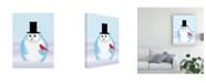 "Trademark Global Marie Sansone Snowman Modern Canvas Art - 20"" x 25"""