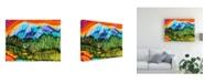 "Trademark Global Michelle Mccullough Magic Mountain Canvas Art - 20"" x 25"""