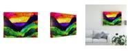 "Trademark Global Michelle Mccullough Mountain Sunrise Color Canvas Art - 15"" x 20"""