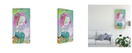 "Trademark Global Mindy Lacefield Pearl Mermaid Canvas Art - 15"" x 20"""