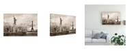 "Trademark Global Monte Nagler Liberty and Eiffel Tower Paris France Monotint Canvas Art - 15"" x 20"""