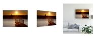 "Trademark Global Monte Nagler Ludington Sunset Ludington Michigan Color Canvas Art - 20"" x 25"""