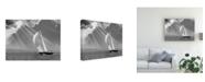 "Trademark Global Monte Nagler Sailing Under Sunbeams Lanse Bay Michigan Canvas Art - 37"" x 49"""