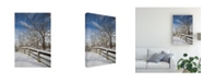 "Trademark Global Monte Nagler Fence in the Snow Farmington Hills Michigan Canvas Art - 37"" x 49"""