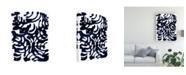 "Trademark Global Jodi Fuchs Indigo Swirls I Canvas Art - 20"" x 25"""
