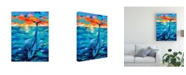 "Trademark Global Carolee Vitaletti Ocean Friends Bold II Canvas Art - 37"" x 49"""