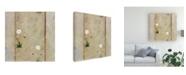 "Trademark Global Pablo Esteban White Flower Vertical Lines Canvas Art - 36.5"" x 48"""