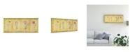 "Trademark Global Pablo Esteban Pink Four Panel Canvas Art - 27"" x 33.5"""