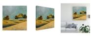 "Trademark Global Pablo Esteban Rounded Trees on Hills 2 Canvas Art - 36.5"" x 48"""