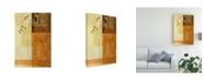 "Trademark Global Pablo Esteban Brown, Orange Block Right Canvas Art - 27"" x 33.5"""