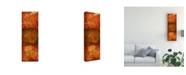 "Trademark Global Pablo Esteban Stencils Over Red Tones 4 Canvas Art - 19.5"" x 26"""