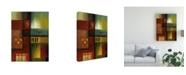 "Trademark Global Pablo Esteban Bold Gematric Panels 3 Canvas Art - 27"" x 33.5"""
