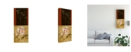 "Trademark Global Pablo Esteban Flowers and Line Art 2 Canvas Art - 36.5"" x 48"""