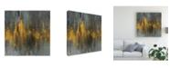 "Trademark Global Danhui Nai Black and Gold Abstract Canvas Art - 19.5"" x 26"""