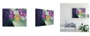 "Trademark Global Regina Moore Cotton Candy Floral I Canvas Art - 36.5"" x 48"""