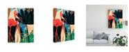 "Trademark Global June Erica Vess Funky Flamingo I Canvas Art - 36.5"" x 48"""