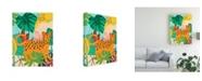 "Trademark Global June Erica Vess Graphic Jungle IV Canvas Art - 36.5"" x 48"""