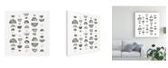 """Trademark Global Emma Scarvey Half Circles III Canvas Art - 36.5"""" x 48"""""""