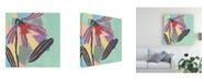 "Trademark Global Melissa Wang Corner Flower I Canvas Art - 15.5"" x 21"""