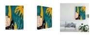 "Trademark Global June Erica Vess Graphic Blue Lagoon I Canvas Art - 19.5"" x 26"""