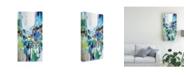 "Trademark Global Jennifer Gardner Blue and Green III Canvas Art - 36.5"" x 48"""