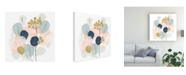 "Trademark Global June Erica Vess Floral Mazurka IV Canvas Art - 15.5"" x 21"""
