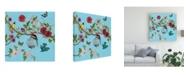 "Trademark Global Naomi McCavitt Bird Song Chinoiseries II Canvas Art - 15.5"" x 21"""