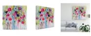 """Trademark Global Carrie Schmitt Joie de Vivre Floral Canvas Art - 15.5"""" x 21"""""""