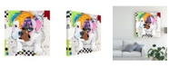 "Trademark Global Michel Keck Bulldog Puppy Canvas Art - 36.5"" x 48"""
