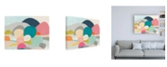 "Trademark Global June Erica Vess Meadow Whimsy II Canvas Art - 36.5"" x 48"""