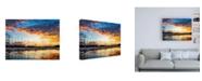 "Trademark Global PH Burchett Lake Harbor Canvas Art - 36.5"" x 48"""