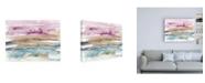"Trademark Global Jennifer Goldberger Umber and Fuchsia Vista I Canvas Art - 19.5"" x 26"""