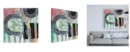 "Trademark Global Chariklia Zarris Ticker Tape II Canvas Art - 15.5"" x 21"""