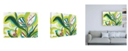 "Trademark Global June Erica Vess Tropical Tones II Canvas Art - 19.5"" x 26"""