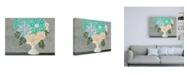 "Trademark Global Regina Moore Nouveau Flowers I Canvas Art - 19.5"" x 26"""