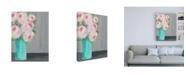"""Trademark Global Regina Moore Sorbet Floral I Canvas Art - 19.5"""" x 26"""""""