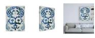 "Trademark Global Chariklia Zarris Sapphire Ikat I Canvas Art - 19.5"" x 26"""