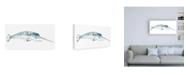 """Trademark Global June Erica Vess Cetacea Narwhal Canvas Art - 36.5"""" x 48"""""""