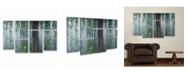 "Trademark Global Claude Monet Waterlillies Multi Panel Art Set 6 Piece - 49"" x 19"""