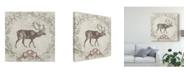 "Trademark Global June Erica Vess Cabin Christmas V Canvas Art - 27"" x 33"""