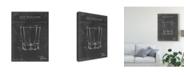 "Trademark Global Ethan Harper Barware Blueprint I Canvas Art - 15"" x 20"""