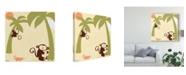 "Trademark Global June Erica Vess Baby Jungle II Canvas Art - 20"" x 25"""
