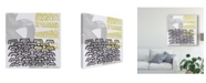 "Trademark Global June Erica Vess Block Print Abstract VI Canvas Art - 20"" x 25"""