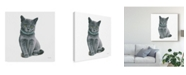 "Trademark Global Emily Adams Cutie Kitties VI Canvas Art - 15"" x 20"""