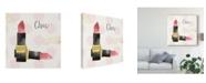 "Trademark Global Jess Aiken Fashion Blooms III Black Canvas Art - 20"" x 25"""