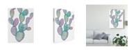 "Trademark Global Mary Urban Lovely Llamas Cactus Canvas Art - 15"" x 20"""