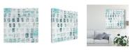 "Trademark Global June Erica Vess Blue Static III Canvas Art - 15"" x 20"""